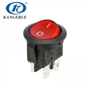 Rocker switch KCD1-224GN 4P