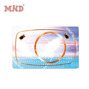 Dual frequency rfid card/Hybrid card