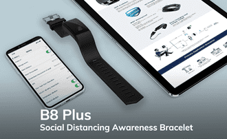 Work Away From Risk with Minew B8 Plus Bracelet