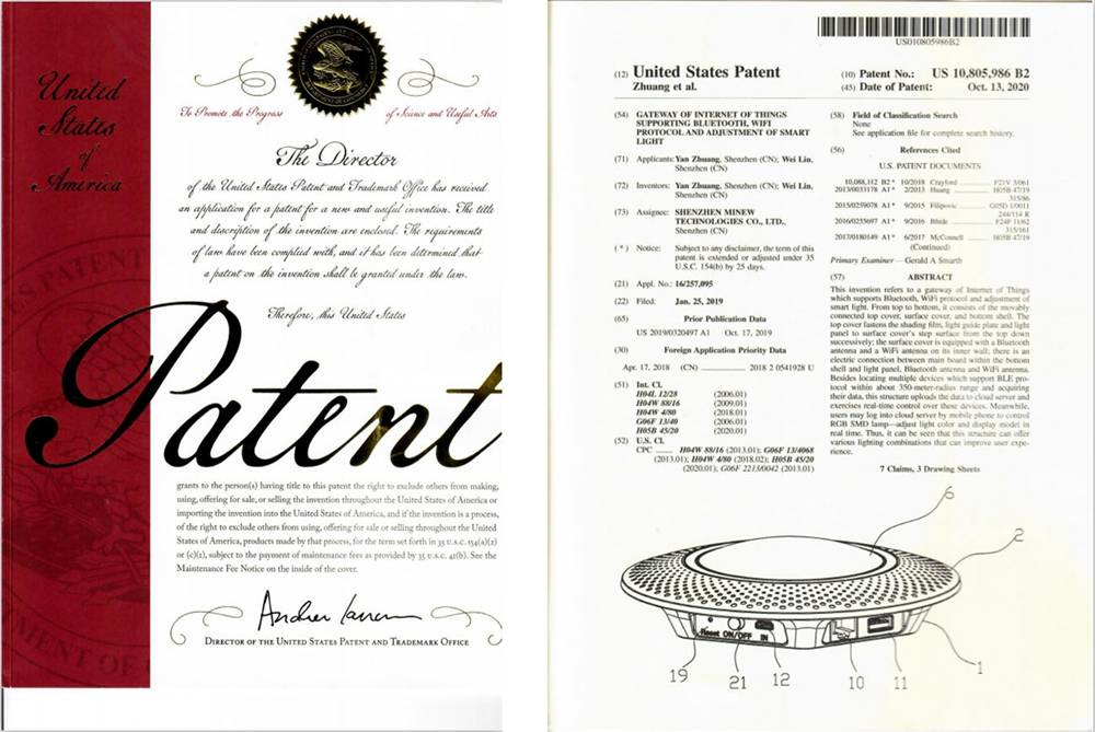 Minew's Awarded for U.S. Patent on Gateway