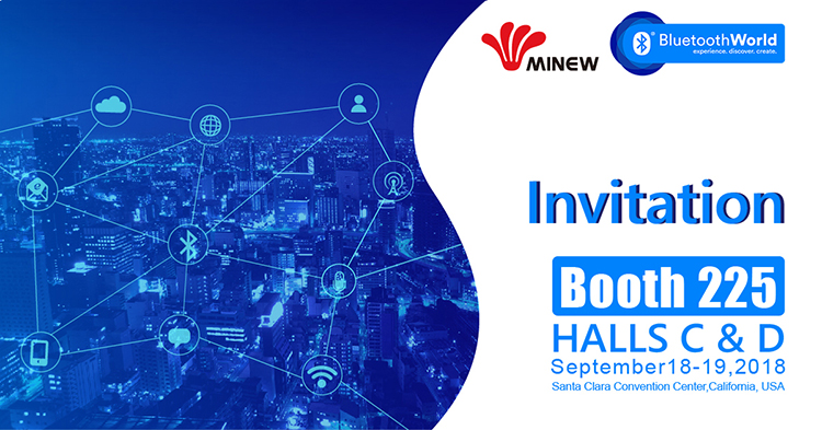 Bluetooth World 2018 Invitation from Minew
