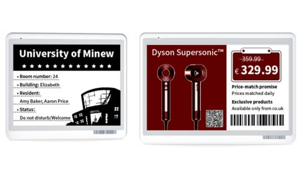 Minew completes larger size electronic shelf labels for high-end offices, meeting rooms and hospitals