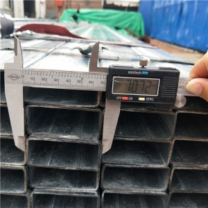 Pre Galvanized Rectangular Tube JIS G3466 Structural tube