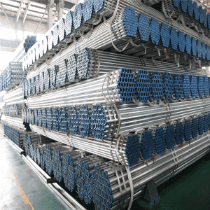 Hot Dipped Galvanized Plastic Caps Steel Tube