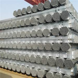 GI Galvanized Zinc coated tube Steel Pipe Q 235 / Furniture Pipe