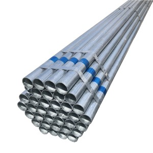 Hot Dip Galvanizing round  Steel Pipe