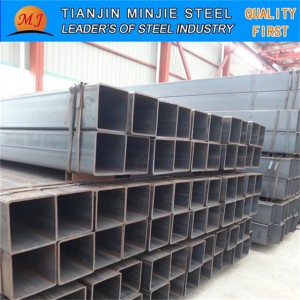 Black Steel Tube Hollow Section Q195