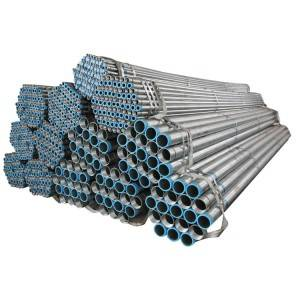 hot dip galvanized thread steel pipe Q235B / Water steel pipe