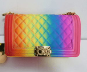 High quality square fashionable diamond shaped pvc women beach jelly bag