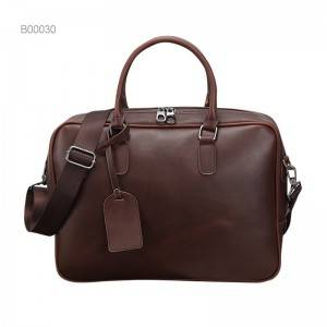 OEM durable pocket briefcase leather briefcase leather men's bag