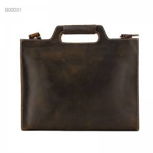 New products soft simple comfortable business leather men bag men's fashion custom briefcase