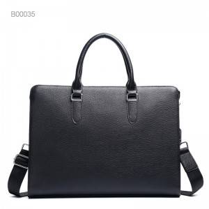 Business office Briefcase Men Leather Tote Computer Laptop bag male Handbag Leisure Large Shoulder Bags