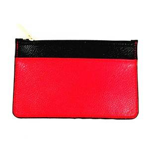 Lady's Red and Black Stitching oblique Handle Single-shoulder Crossbody Bag