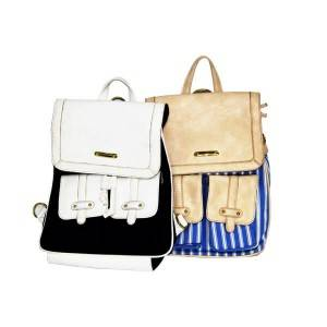 Small fresh outdoor travel color collision bag