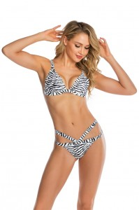 Miss adola Zebra Print Fashion Bikini Swimwear