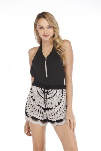 Miss adola Women Embroidered Beach Shorts