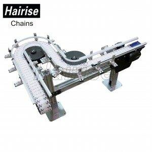 Hairise Curved Conveyors with Multiflex Chains