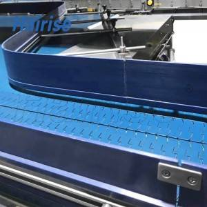 Hairise 1050 flat top chain conveyor for food&beverage
