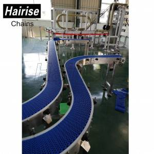 Hairise Plastic Modular Belt Conveyor with Turn