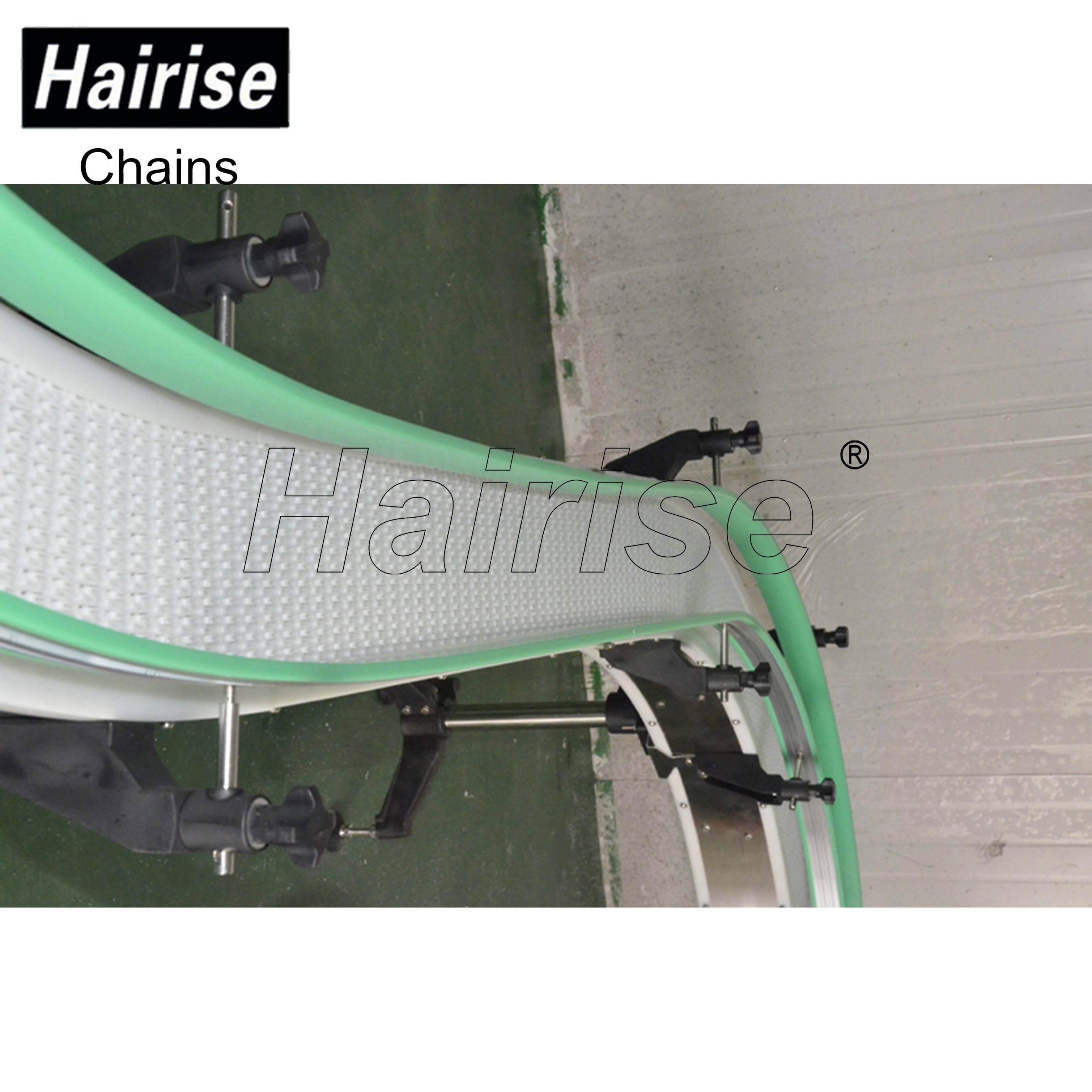 Hairise White Modular Belt Conveyor with S Curve