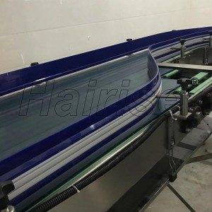 Hairise Slat Top Chain Straight/Turn Conveyor for Food&Beverage