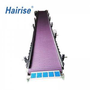 Hairise CE food grade material modular belt conveyor