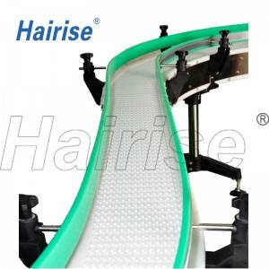 Hairise inclined conveyors with anti skid rubber on surface