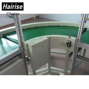 Hairise Adjustable Speed PU Belt Conveyor System