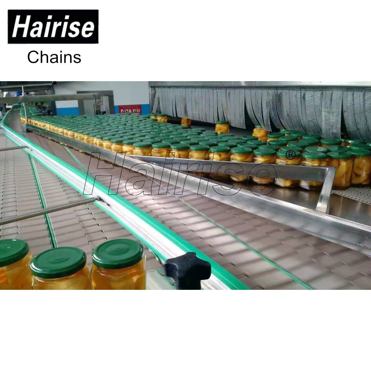 Hairise Straight/Curve Conveyors for bottle conveying