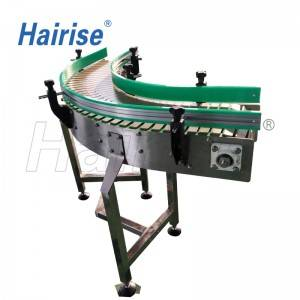 Hairise slat top chain turning conveyor