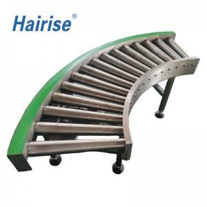 Hairise roller conveyor system for beverage industry