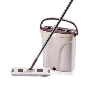Chinese Professional Flat Mop And Bucket - Factory making Maryya Round And Flat Floor Cleaning Mop With Spin Bucket – Yaxiang