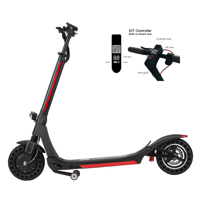New Rental Dockless 10 inch App GPS IOT System Electric Scooter Sharing Featured Image