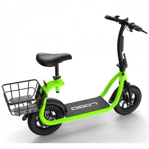 Cheap hidden battery electric bike scooter with basket