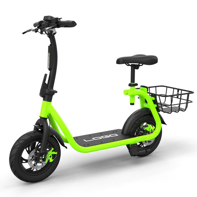 Cheap hidden battery electric bike scooter with basket Featured Image