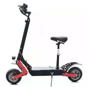 New fast two wheel 11 inch dual motor electric scooter 3200w 60v