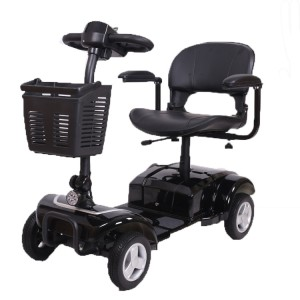 Automatic removable battery handicapped foldable four wheels electric mobility scooter for elderly