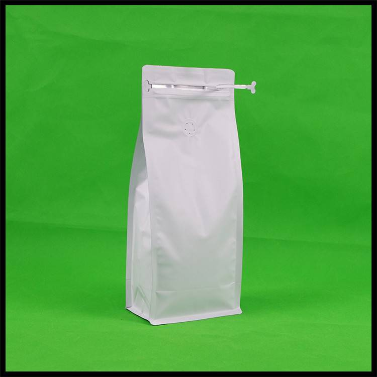 1000g Matte White Bottom Pouch with Zipper & Valve Featured Image