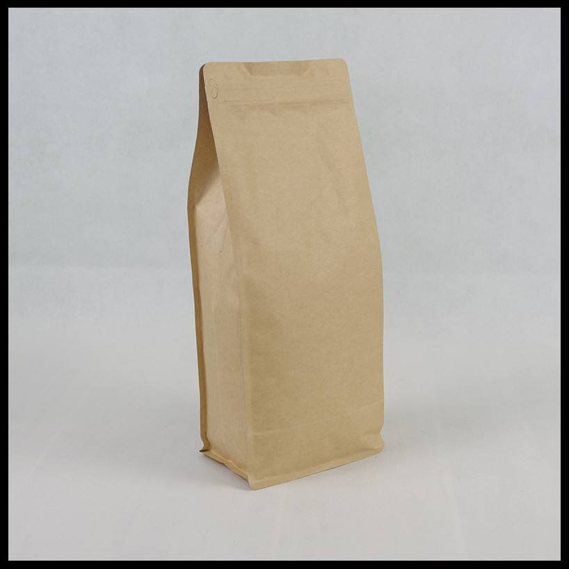 1000g Brown Kraft Bottom Pouch with Zipper & Valve Featured Image
