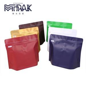 Stand up pouch with top open zipper & valve