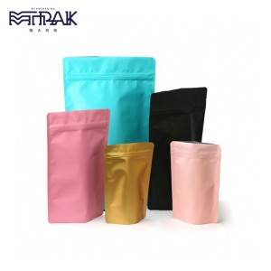 Stand up pouch with top open zipper &  tear notch