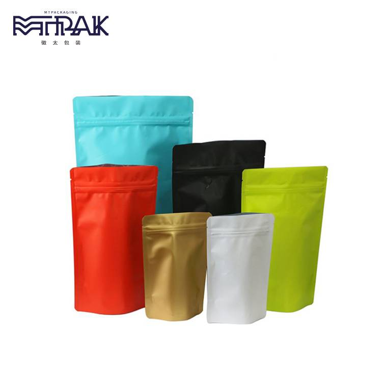 Stand up pouch with top open zipper &  tear notch Featured Image