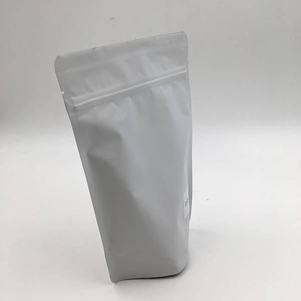 100% Original Factory Aluminum Foil Coffee Bag - Matte White Stand Up Pouch – MTPAK