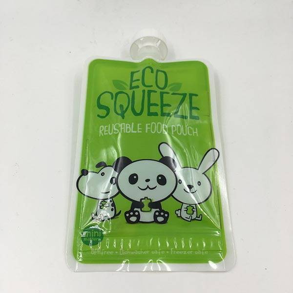 Factory Cheap Hot Free Reusable Squeezed Baby Food Sachet Pouches -