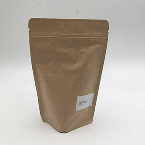 70g / 100g / 150g / 250g / 500g / 1kg / 2kg Brown Kraft Stand Up Poki með rennilás