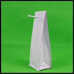 500g Matte White Bottom Pouch with Zipper & Valve