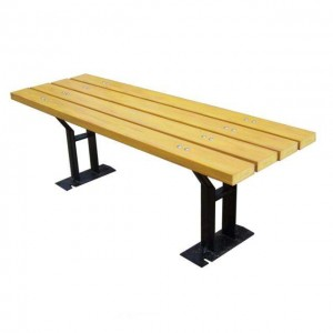 waterproof backless teak bench patio furniture outdoor