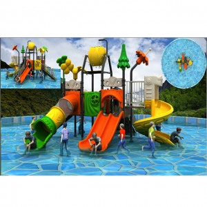 Small waterpark Child pool with water slide