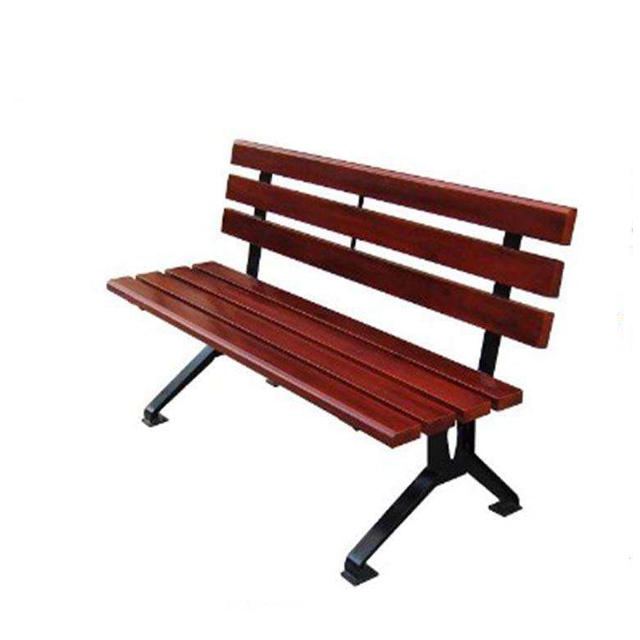 Outdoor cast iron park bench wood plastic composite slats bench Featured Image
