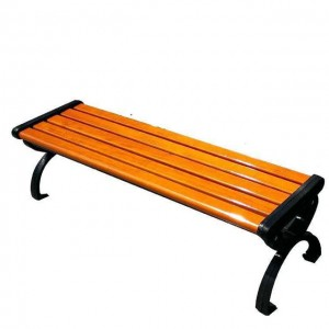 Outdoor Furniture Garden durable Bench, waterproof and Wear Cast Iron Frame Design wpc outdoor park bench